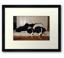 Sleep with me Framed Print