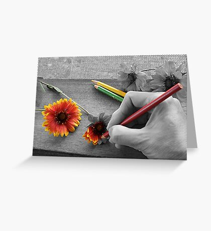 Staying Inside the Lines Greeting Card