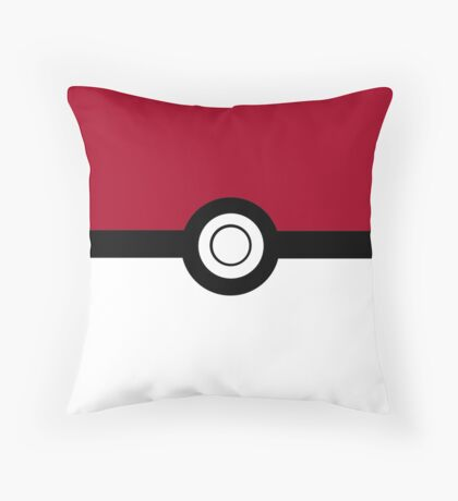 Pokeball 2D Design Throw Pillow