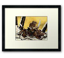 Dreadful Wolf Rider Framed Print
