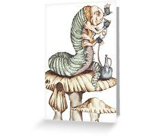 Alice Caterpillar Greeting Card