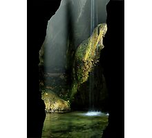 Inside the caves Photographic Print