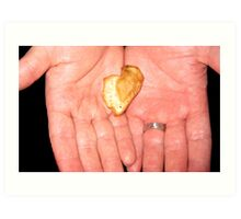 Handing You my Heart Art Print