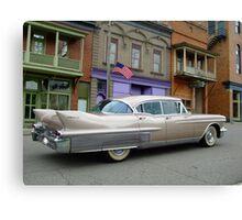 1958 Cadillac on Main Street in downtown Shawnee, Ohio.  Canvas Print
