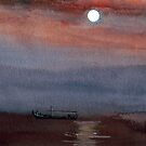 A boat in the moon by Anil Nene