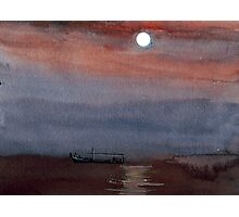 A boat in the moon Photographic Print