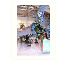 Maintenance, F16 Fighting Falcon Art Print