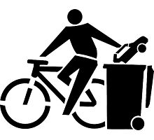 Ride A Bicycle, Recycle The Car Photographic Print