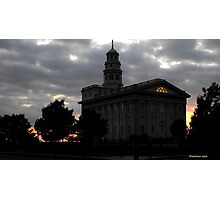 Sunset Behind Nauvoo Temple ~ Nauvoo Illinois USA Photographic Print