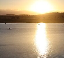 The sunset over Leslie Dam, western Queensland by SunnieGal