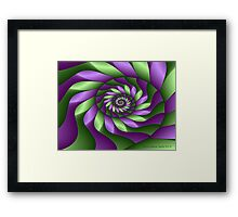 Ribbon Spiral Framed Print