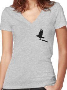 Anti-Writer's Block Raven Women's Fitted V-Neck T-Shirt