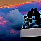 Sunset - Carnival Ecstacy Cruise Ship by kolyssa