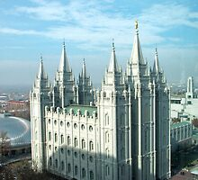 Salt Lake Temple ~ Salt Lake City, Utah USA by Jan  Tribe