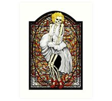 Stained Glass Marilyn Art Print