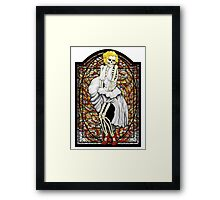 Stained Glass Marilyn Framed Print