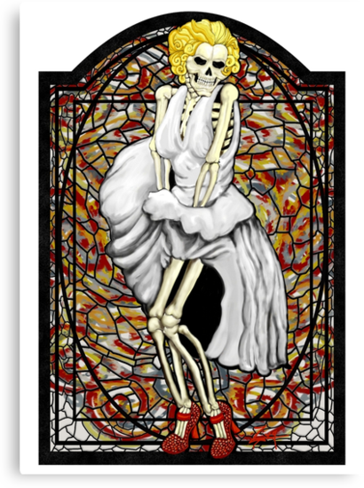 Stained Glass Marilyn by ZugArt