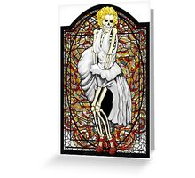 Stained Glass Marilyn Greeting Card