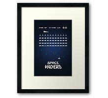 Space Vaders Framed Print