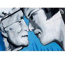 Graffiti on the old garage door Photographic Print