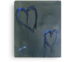 Lonely Blue Hearts Canvas Print