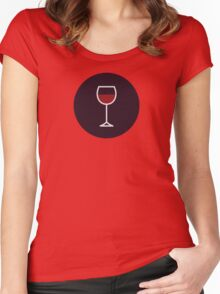 Wine Icon - Drinks Series Women's Fitted Scoop T-Shirt
