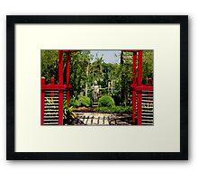 Meditation Garden Framed Print