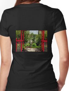 Meditation Garden Womens Fitted T-Shirt