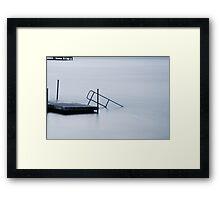 White sea Framed Print