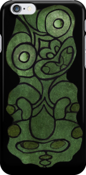 Maori Tiki iPhone Case by kevin smith  skystudiohawaii