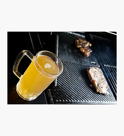 Beer and Steak Photographic Print