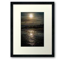 A Walk Along The Shore Framed Print