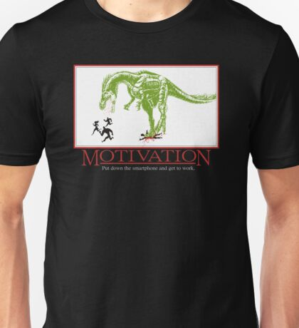 put down the smartphone and get to work anti-motivation Unisex T-Shirt