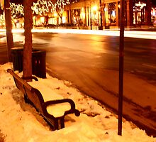 Street Bench Passing Cars by darb85