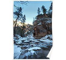 frozen canyon #2 Poster