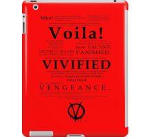 V For Vendetta Pentalogue iPad Case/Skin