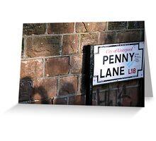 penny lane Greeting Card
