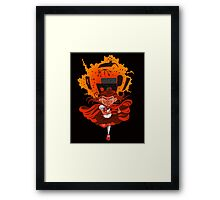 Don't mess with Lil' Red!  Framed Print