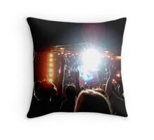 Rockin' In The Free World with Neil Young - Hard Rock Calling Throw Pillow