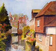 The Stour - Canterbury - Kent by Beatrice Cloake Pasquier