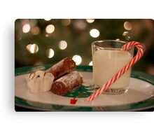 Food and Drink For Santa Canvas Print