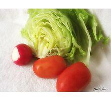 Lettuce Radish Tomato 1 Photographic Print
