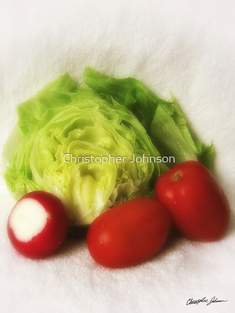 Lettuce Radish Tomato 2 by Christopher Johnson