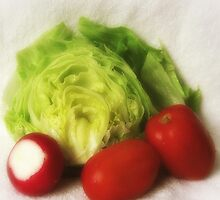 Lettuce Radish Tomato 2 by Christopher Johnson