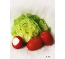 Lettuce Radish Tomato 2 Photographic Print