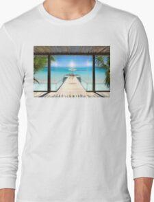 Sun Halo in the Seychelles Long Sleeve T-Shirt
