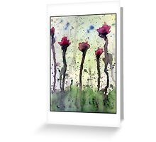Emotive Blossoms Greeting Card