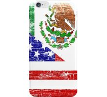 Vintage Mexican American Flag Cool T-Shirt iPhone Case/Skin