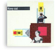 Navy Cut Canvas Print