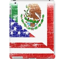 Vintage Mexican American Flag Cool T-Shirt iPad Case/Skin